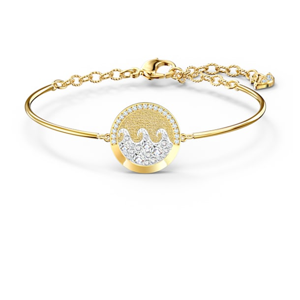 Shine Wave bangle, Multicolored, Gold-tone plated - Swarovski, 5524191