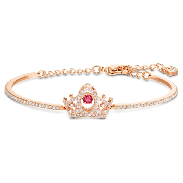 Bee A Queen Bangle, Red, Rose-gold tone plated - Swarovski, 5524545