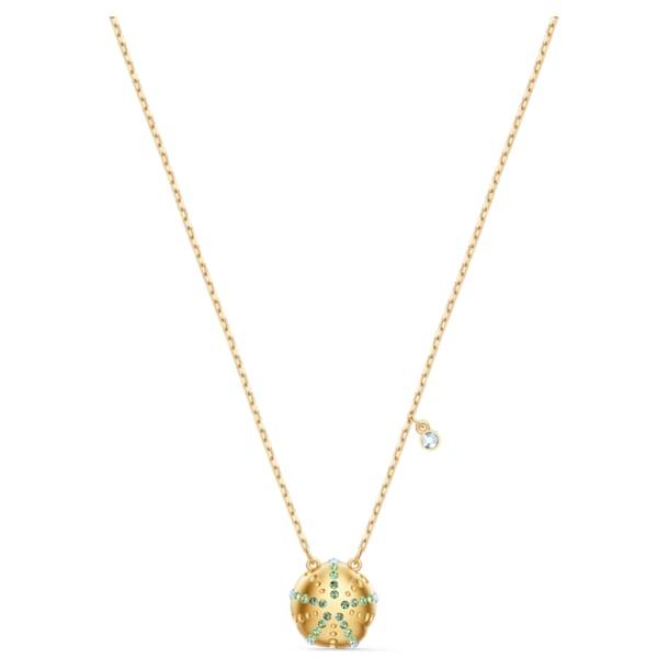 Shine Urchin Pendant, Green, Gold-tone plated - Swarovski, 5524663