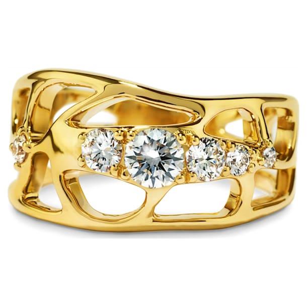 Diama 18K Lace Narrow Ring, Swarovski Created Diamonds, 18K Yellow Gold, Size 55 - Swarovski, 5524697