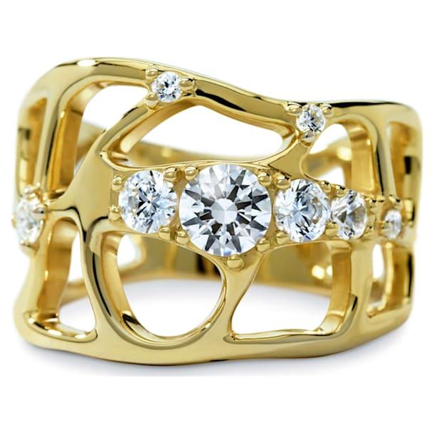 Lace Ring, Swarovski Created Diamonds, 18K Yellow Gold, Size 55 - Swarovski, 5524707