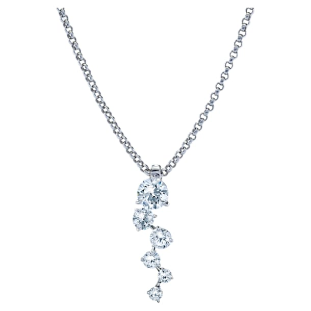 Signature Necklace, Swarovski Created Diamonds, 18K White Gold - Swarovski, 5524716