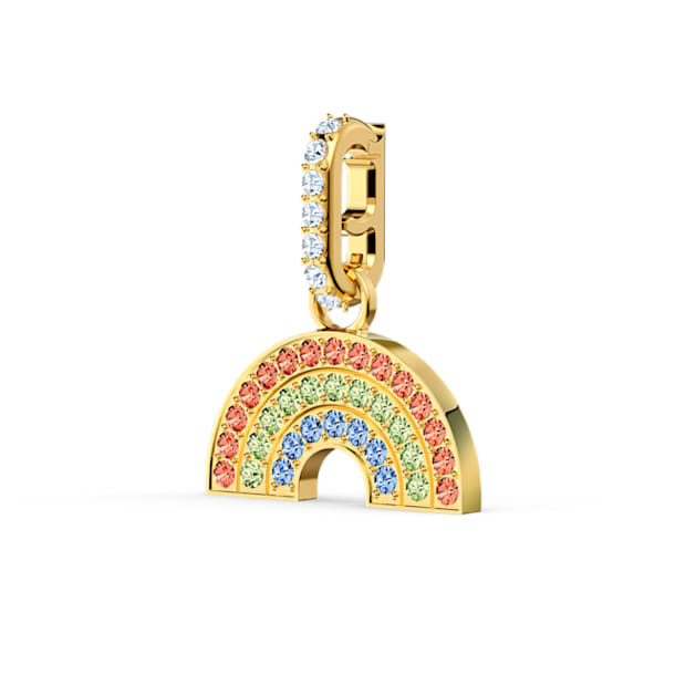Swarovski Remix Collection Rainbow Charm, 淺色漸變, 鍍金色色調 - Swarovski, 5527005