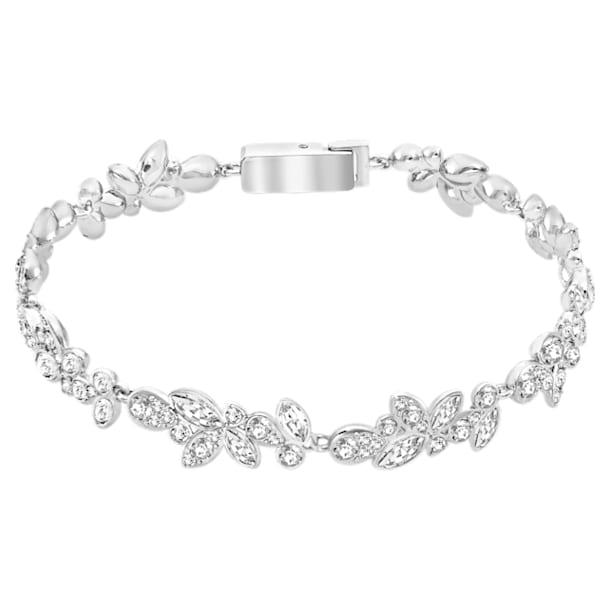 Diapason armband , Wit, Rodium toplaag - Swarovski, 5528190