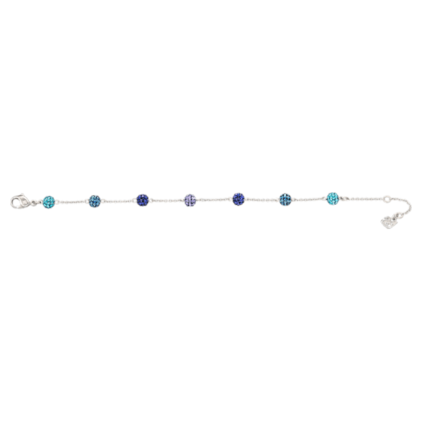 Blow bracelet, Multicolored, Rhodium plated - Swarovski, 5528200