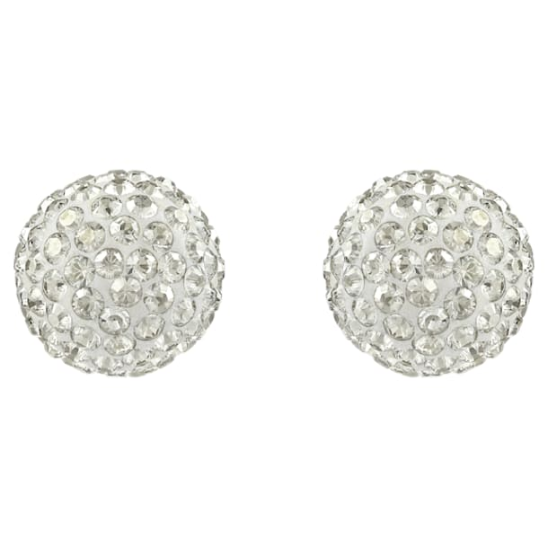 Blow Pierced Earrings, Grey, Mixed metal finish - Swarovski, 5528455