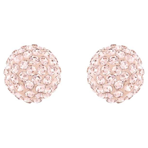 Blow Pierced Earrings, Pink, Rose-gold tone plated - Swarovski, 5528456