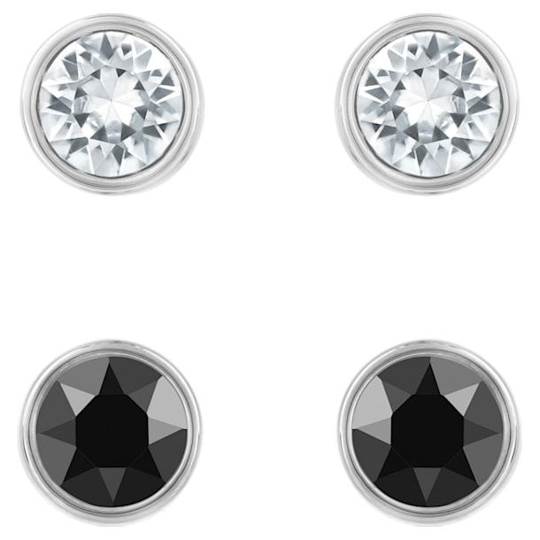 Conjunto de pendientes Harley, negro, Baño de Rutenio - Swarovski, 5528506
