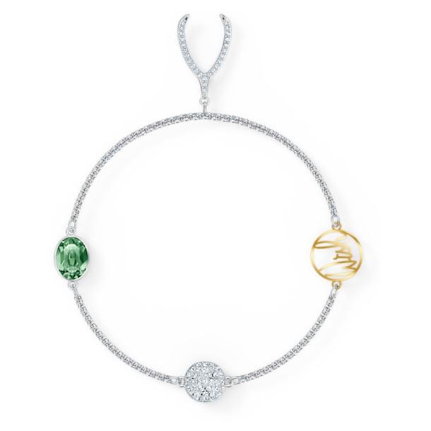 Strand Swarovski Remix Collection Wishbone, vert, métal rhodié - Swarovski, 5528718