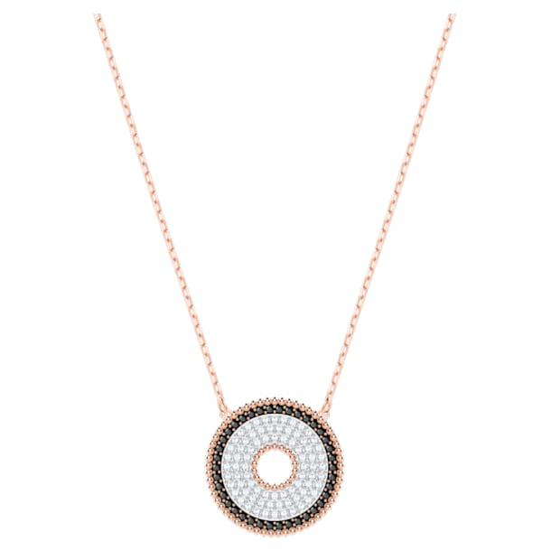 Collar Lollypop, negro, Baño en tono Oro Rosa - Swarovski, 5528723