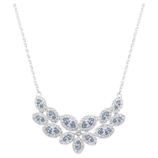 Baron necklace, Blue, Rhodium plated - Swarovski, 5528900