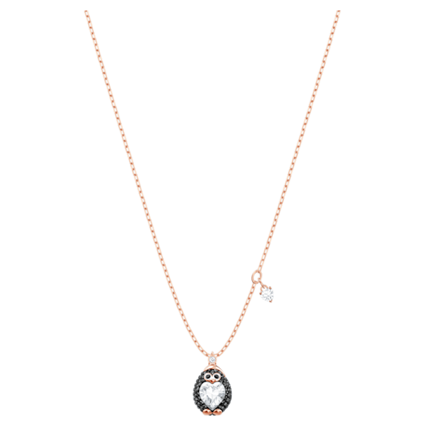 Little Penguin 펜던트, 멀티컬러, 로즈골드 톤 플래팅 - Swarovski, 5528917