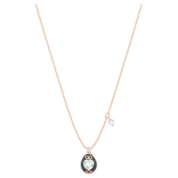 Little Penguin pendant, Multicoloured, Rose-gold tone plated - Swarovski, 5528917