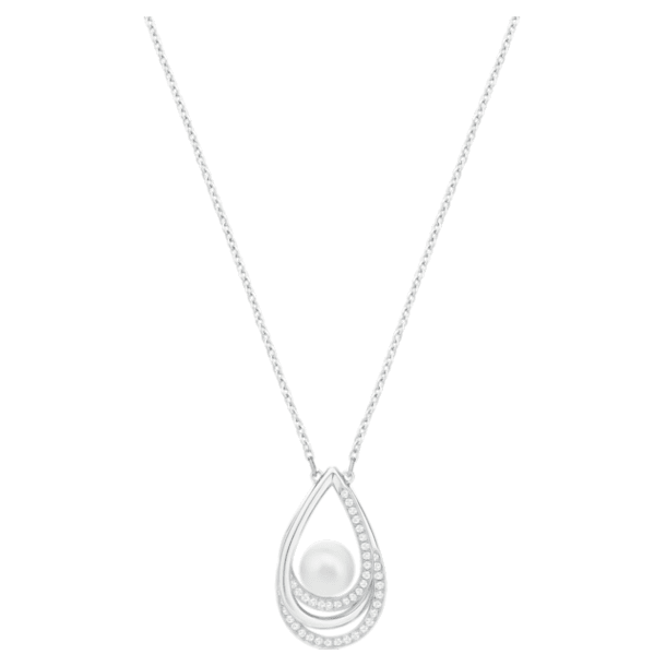 Free pendant, White, Rhodium plated - Swarovski, 5528928