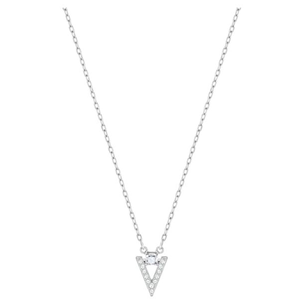 Funk necklace, White, Rhodium plated - Swarovski, 5528933
