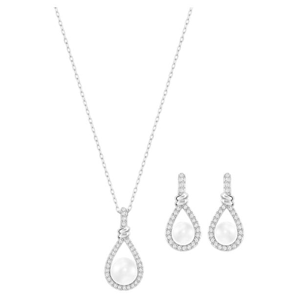 Enlace Set, White, Rhodium plated - Swarovski, 5528959