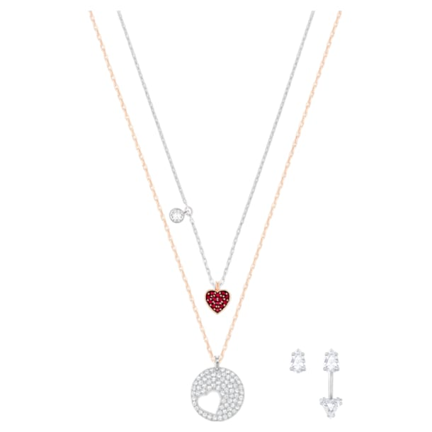 Crystal Wishes Set pendant, Multicolored, Mixed metal finish - Swarovski, 5528973