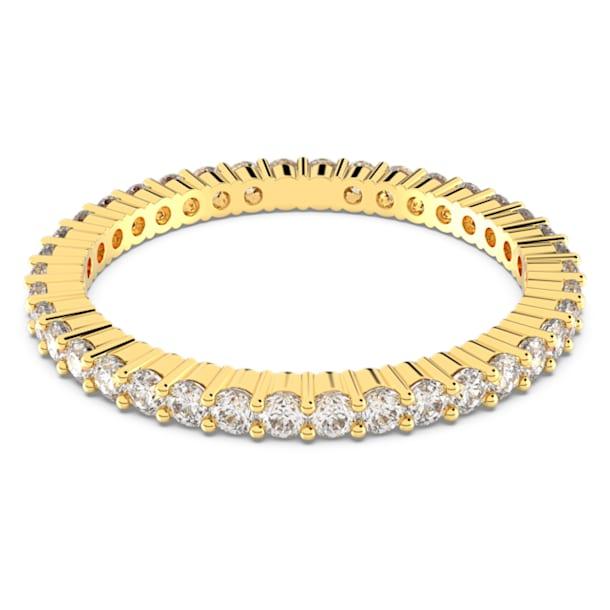 Vittore Кольцо, Белый кристалл, Покрытие оттенка золота - Swarovski, 5531164