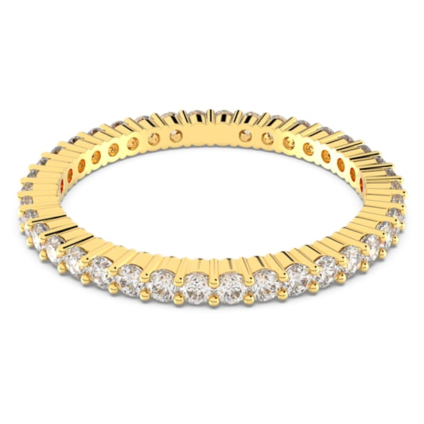 Vittore ring, Wit, Goudkleurige toplaag - Swarovski, 5531164
