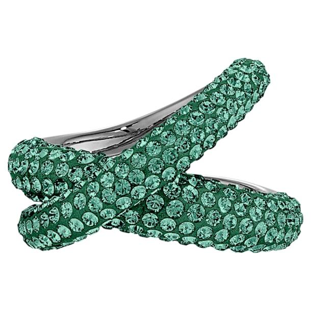 Anillo Tigris, verde, baño de rutenio - Swarovski, 5532479