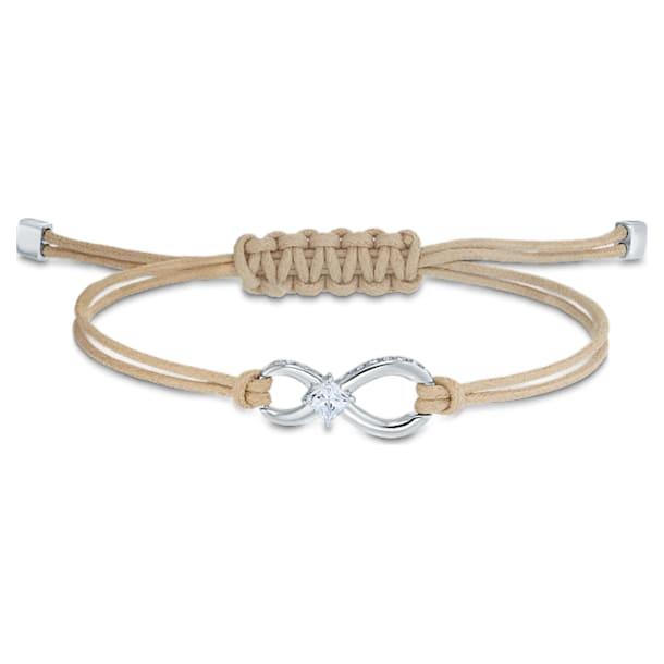 Swarovski Infinity Bracelet, Beige, Rhodium plated - Swarovski, 5533725