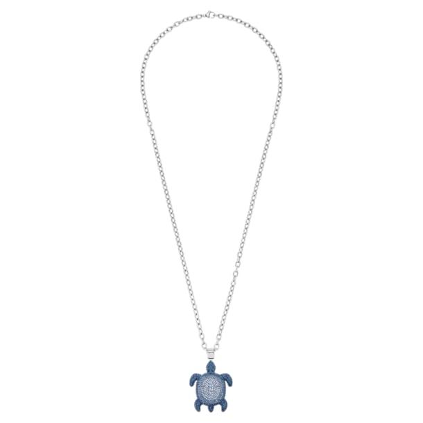 Mustique Sea Life Turtle Anhänger, klein, blau, palladiniert - Swarovski, 5533756