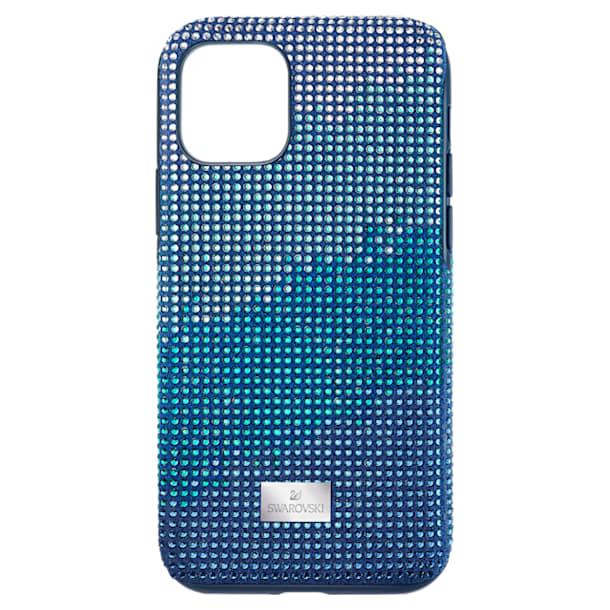 Crystalgram Smartphone Case with Bumper, iPhone® 11 Pro, Blue - Swarovski, 5533958