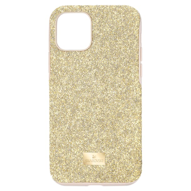 High smartphone case, iPhone® 11 Pro, Gold tone - Swarovski, 5533961