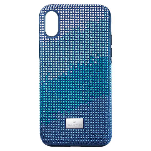 Etui na smartfona Crystalgram z ramką chroniącą przed uderzeniem, iPhone® XS Max, niebieskie - Swarovski, 5533972