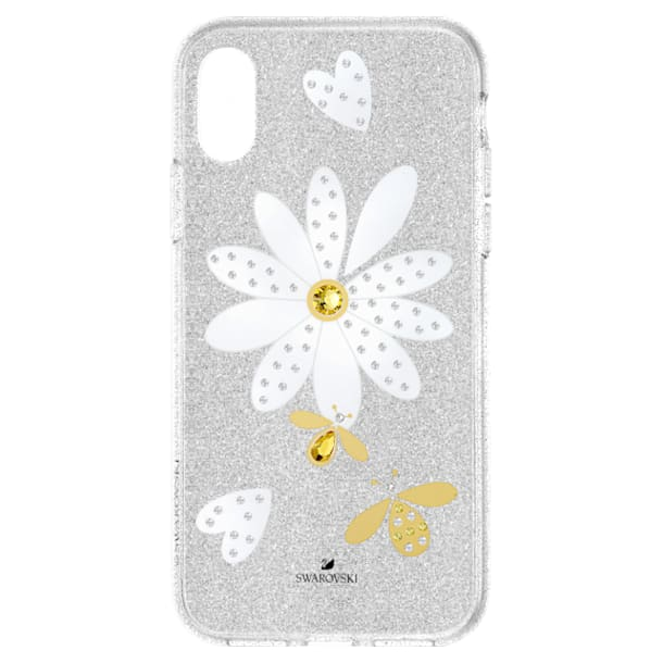 Eternal Flower Smartphone Case with Bumper, iPhone® XS Max, Light multi-colored - Swarovski, 5533978