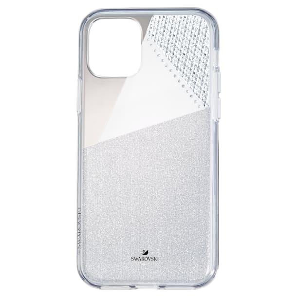 Subtle Smartphone Case with Bumper, iPhone® 11 Pro, Silver tone - Swarovski, 5533979
