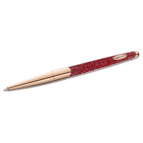 Kuličkové pero Crystalline Nova, Červená, Pokoveno v růžovozlatém odstínu - Swarovski, 5534323