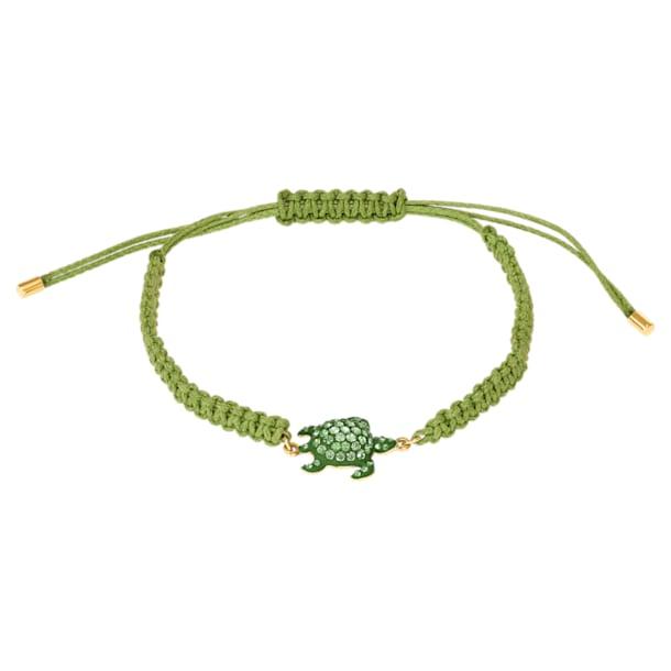 Bracelet Mustique Sea Life Turtle, vert, métal doré - Swarovski, 5534344