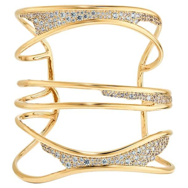 Gilded Treasures Bangle, White, Gold-tone plated - Swarovski, 5534424