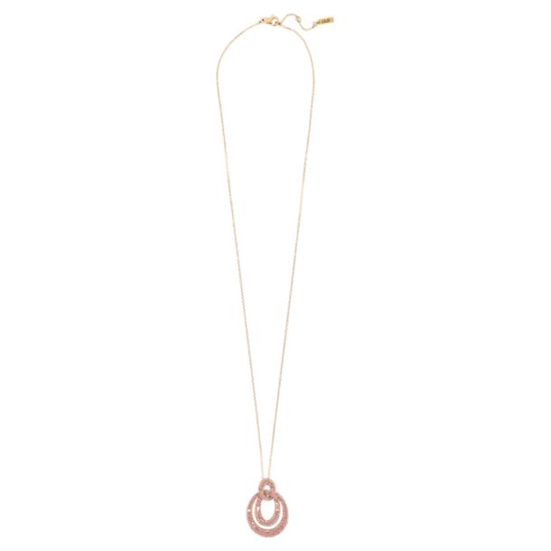 Tigris 链坠, 粉红色, 镀金色调 - Swarovski, 5534516