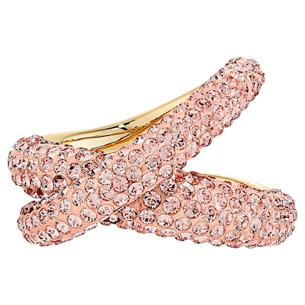 Δαχτυλίδι Tigris, Ροζ, Επιμετάλλωση σε χρυσαφί τόνο - Swarovski, 5534544