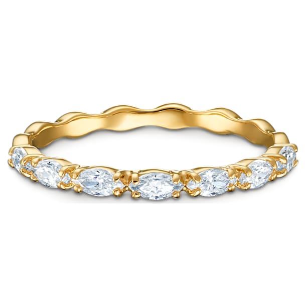 Δαχτυλίδι Vittore Marquise, λευκό, επιχρυσωμένο σε χρυσή απόχρωση - Swarovski, 5535227