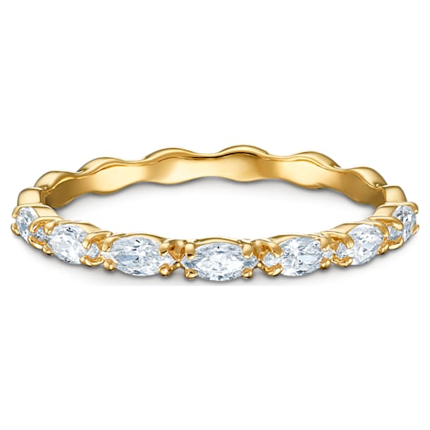 Vittore Marquise Кольцо, Белый Кристалл, Покрытие оттенка золота - Swarovski, 5535249