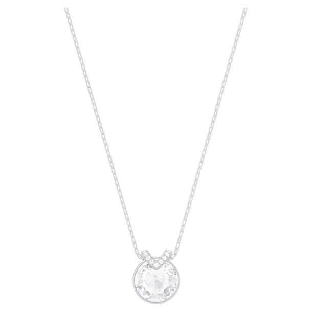 Bella V pendant, White, Rhodium plated - Swarovski, 5535526