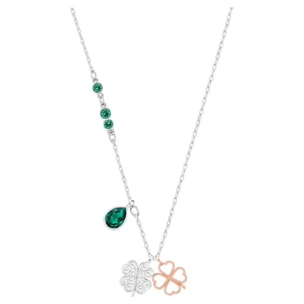 Wisiorek Swarovski Symbolic Clover, Zielony, Wykończenie z różnobarwnych metali - Swarovski, 5535554