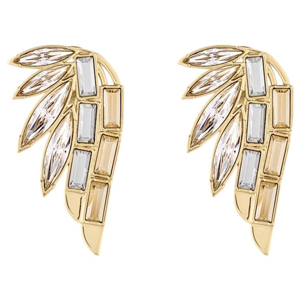 Pendientes Ear Cuff Wonder Woman, blanco, baño tono oro - Swarovski, 5535585