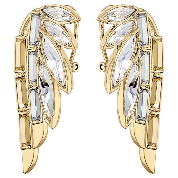 Τρυπητά σκουλαρίκια Wonder Woman, χρυσή απόχρωση, επιχρυσωμένα - Swarovski, 5535589