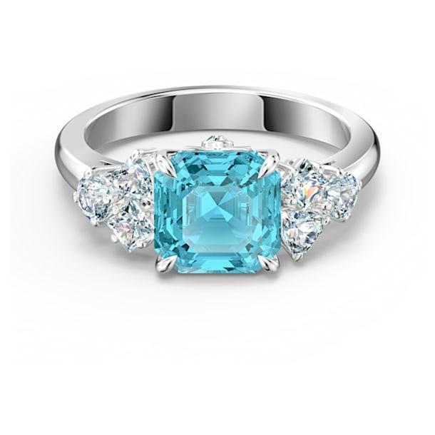Bague Sparkling, aiguemarine turquoise, métal rhodié - Swarovski, 5535603