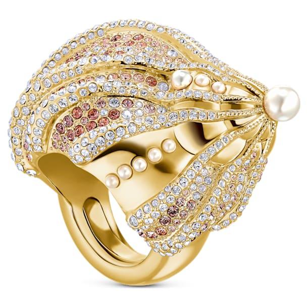 Sculptured Shells Ring, Light multi-coloured, Mixed metal finish - Swarovski, 5535678