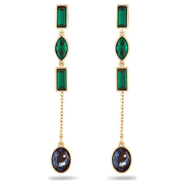 Beautiful Earth by Susan Rockefeller Pierced Earring Jackets, Short, Dark multi-colored, Gold-tone plated - Swarovski, 5535884