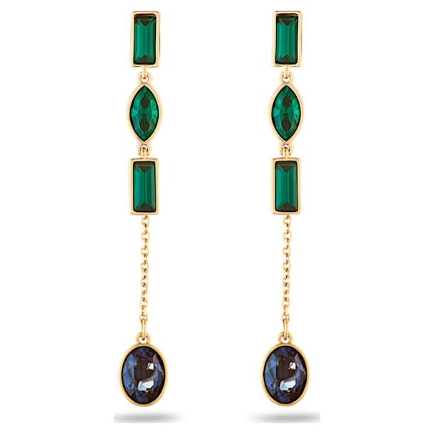 Beautiful Earth by Susan Rockefeller Pierced Earring Jackets, Short, Dark multi-coloured, Gold-tone plated - Swarovski, 5535884