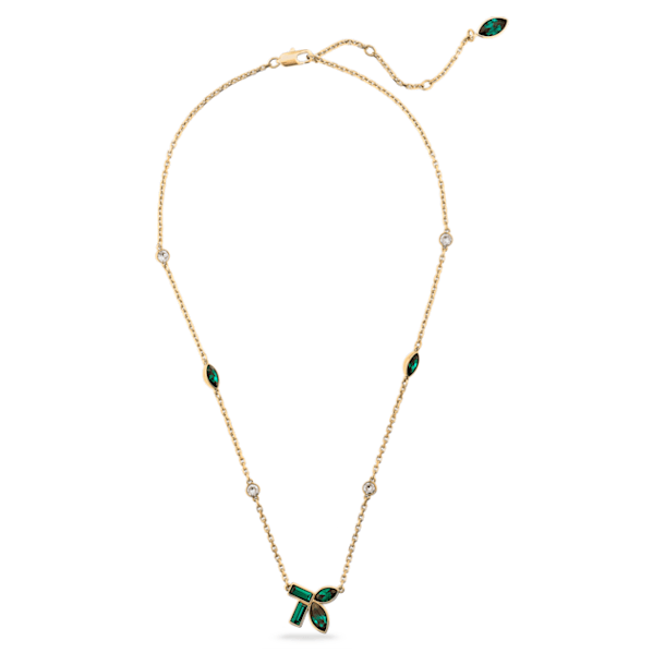 Collar Beautiful Earth by Susan Rockefeller, verde, baño tono oro - Swarovski, 5535891