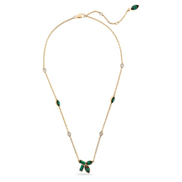 Naszyjnik Beautiful Earth by Susan Rockefeller, Bambus, Zielony, Powłoka w odcieniu złota - Swarovski, 5535891
