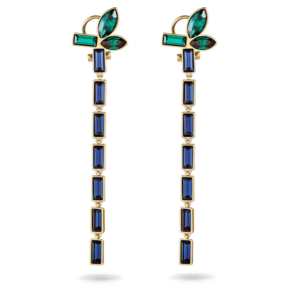 Beautiful Earth by Susan Rockefeller Pierced Earrings, Dark multi-colored, Gold-tone plated - Swarovski, 5535892