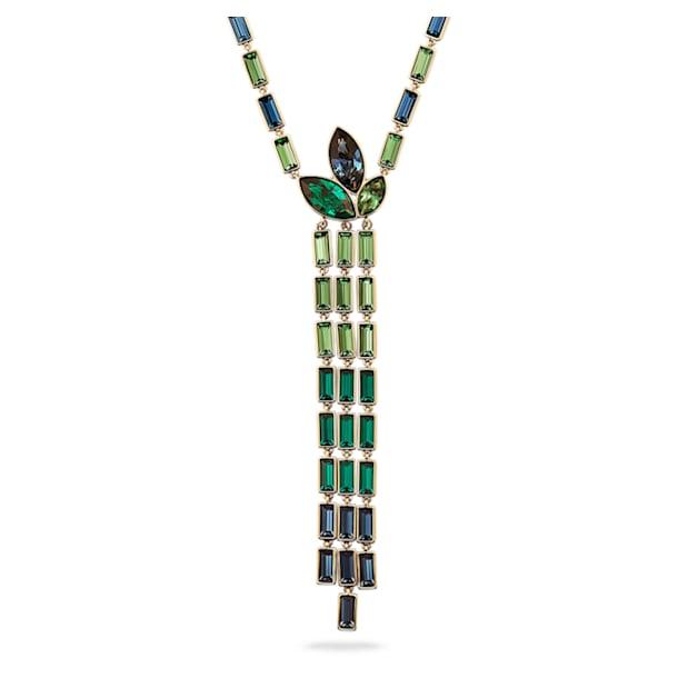 Naszyjnik Y Beautiful Earth by Susan Rockefeller, Bambus, Różnokolorowy, Powłoka w odcieniu złota - Swarovski, 5535893